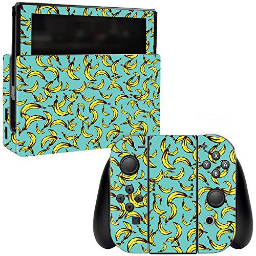 MightySkins Skin Compatible with Nintendo Switch - Bananas | Protective, Durable, and Unique Vinyl Decal wrap Cover | Easy to Apply, Remove, and Change Styles | Made in The USA
