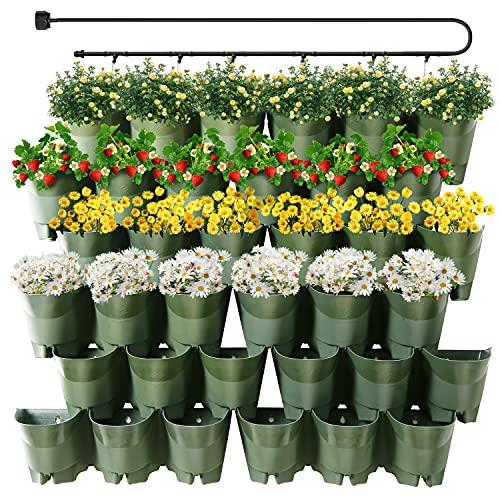 Macetas De Riego Automatico Para Jardin Vertical 36u. Verde