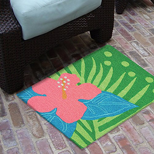 "Hibiscus Bud 21"" by 33"" Area Accent Jellybean Rug"