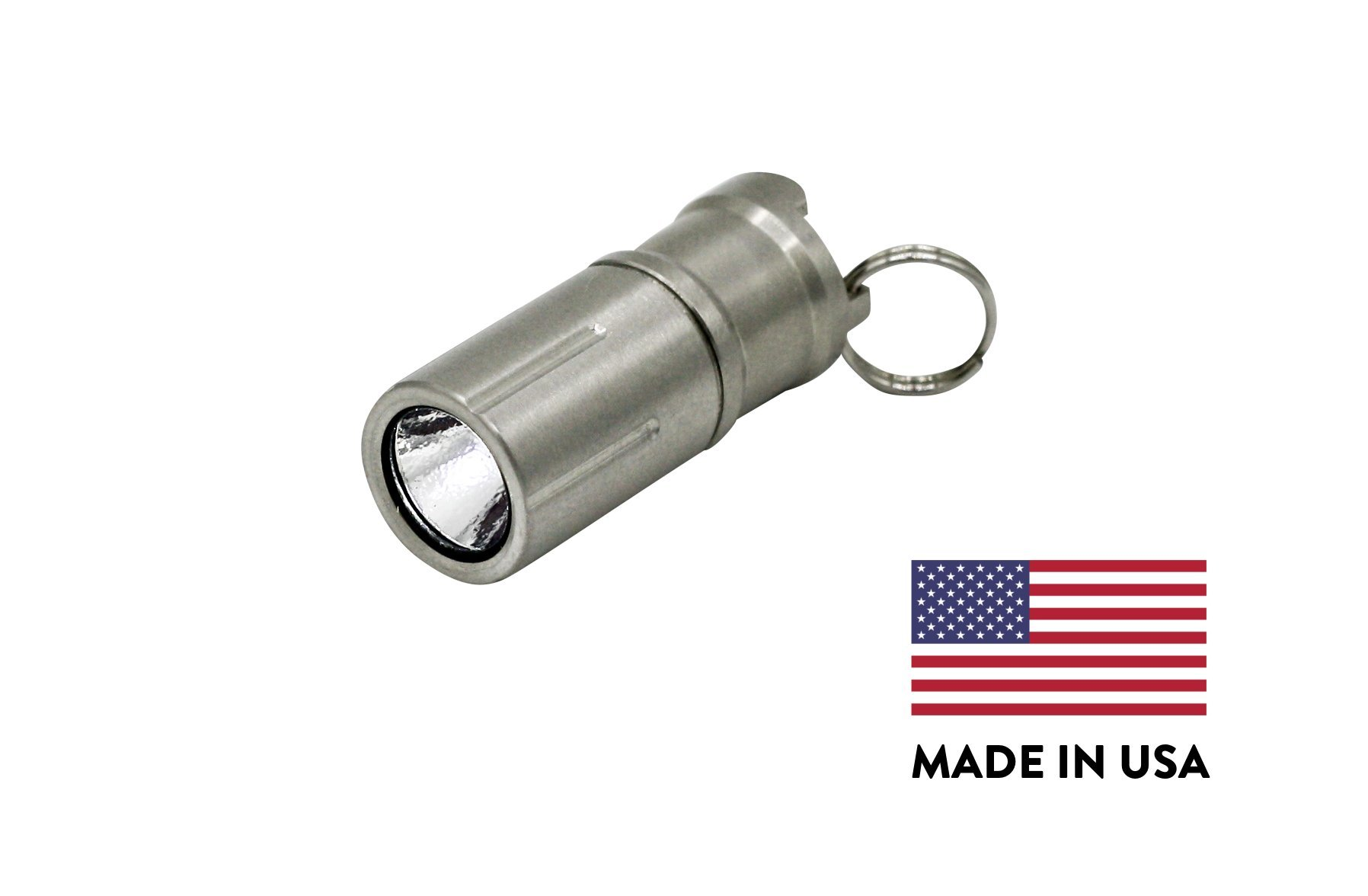 Maratac Peanut LED - Rechargeable Lithium Ion Battery Keychain Flashlight - Made in USA