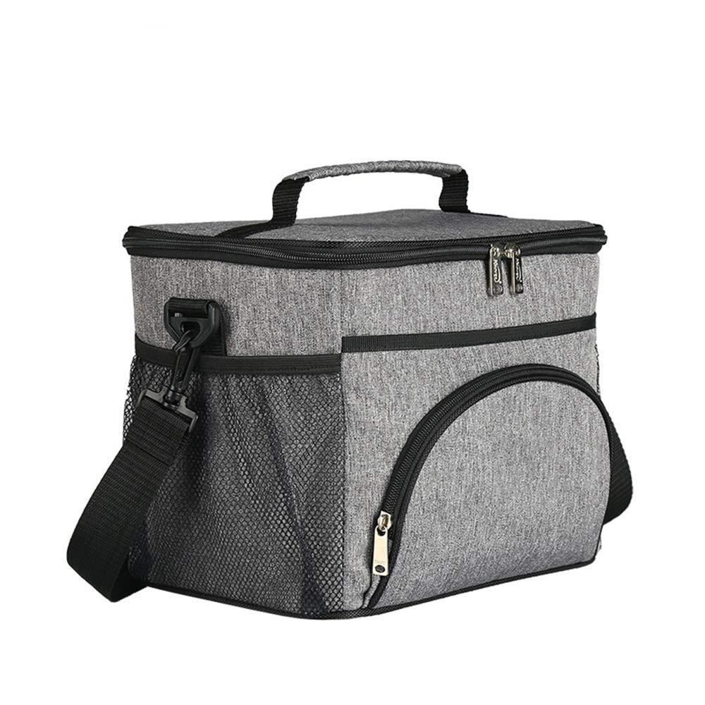 MX kingdom Mittagessen Tasche, Kühltasche fünf Eisbeutel Wärmeisolationstasche Stoff aus Oxford Alufolie 12L tragbarer Frischhaltebeutel