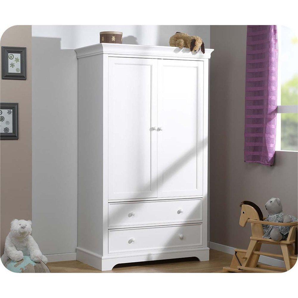 Kleiderschrank Mel weiß 2 Türen günstig kaufen