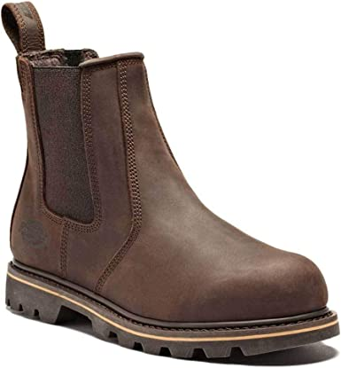 Dickies Fife Safety Dealer Boot Leather
