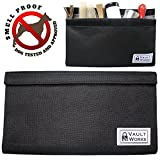 VaultWorks Smell Proof Bag - Discreet Smokers Container - For storing all of your smelly smoking accessories - CARBON LINED and DOG TESTED - DOUBLE-VELCRO SEAL