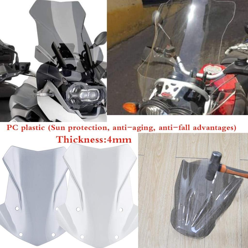 Shiwaki Motorrad Hochwertige Windschutzscheibe Verkleidungszubeh/ör f/ür BMW R1250GS Adventure 2019 klar