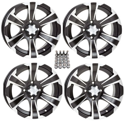 "ITP SS312 ATV Wheels/Rims Black 12"" Honda Rincon Yamaha for sale  Delivered anywhere in USA"