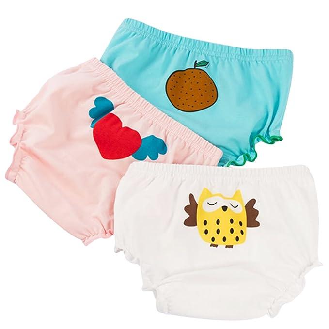 G-Kids Baby M/ädchen Unterw/äsche Unterhose Slip Kinder Niedlich Baumwolle Unterw/äsche Shorts 3 Pack
