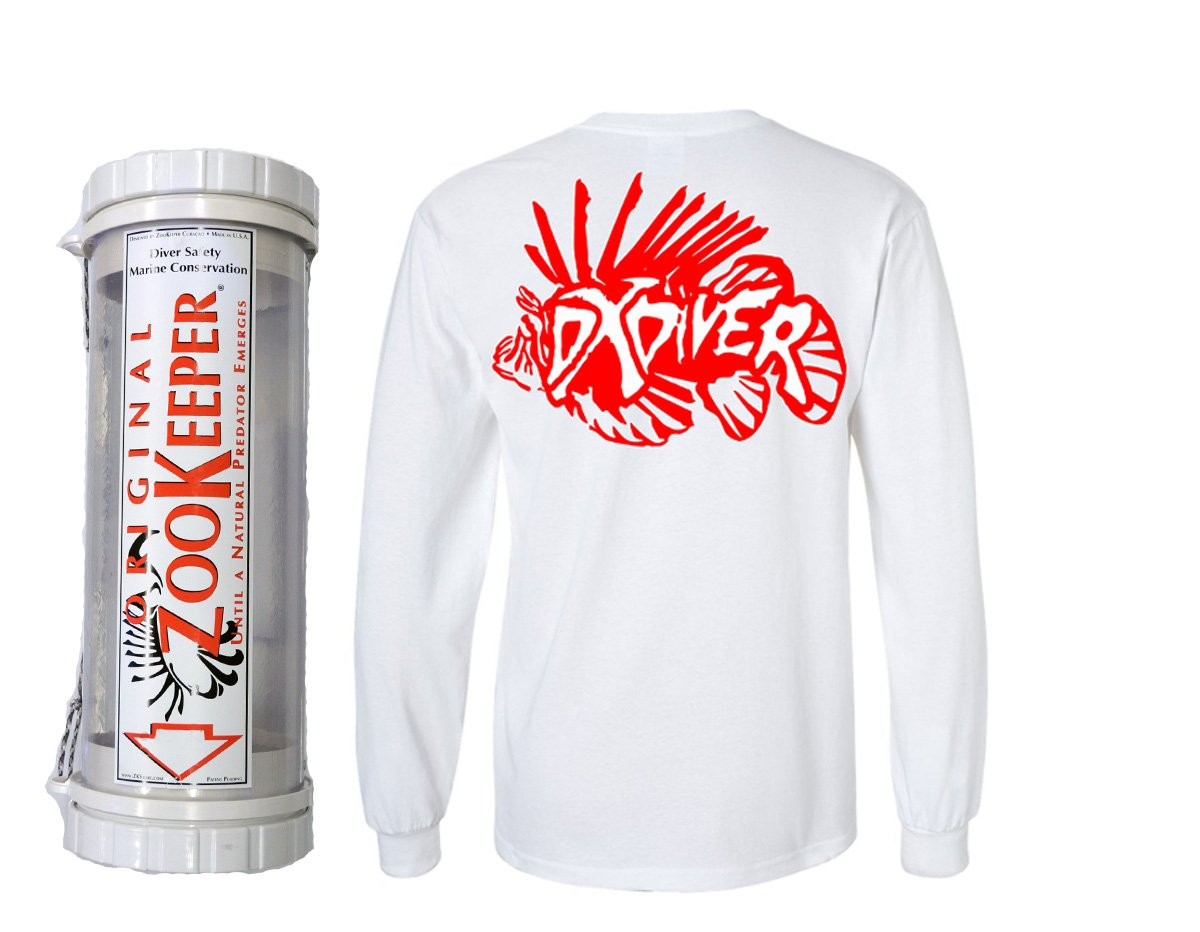 24'' Zoo Keeper Clear Lionfish Containment Unit Medium LCU-16 DXDiver Wicking Shirt Sun Protection Size Small Scuba Diving Freediving Spearfishing Longsleeve by ZooKeeper (Image #1)