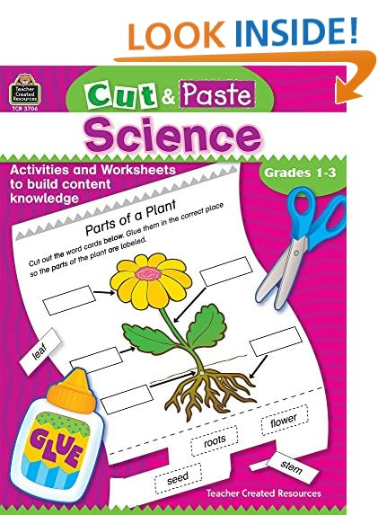 Counting Number worksheets kindergarten cut and paste worksheets free : Kindergarten Science: Amazon.com
