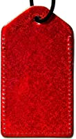En Route Hologram Luggage Tag Red