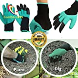 GoldStore95 Garden Genie Gloves with Claws, Clawed Easy Gardening Gloves for Digging and Planting Tools - As Seen On TV, Gardening Tools for Men and Women - Work Gloves - 1 Pair, Green