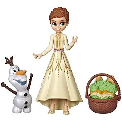 Disney Frozen Anna & Olaf Small Dolls with Basket Accessory, Inspired by The Frozen 2 Movie: Toys & Games
