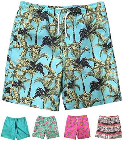013f69ea8b107 INGEAR Little Boys Quick Dry Beach Board Shorts Swim Trunk Swimsuit Beach  Shorts with Mesh Lining
