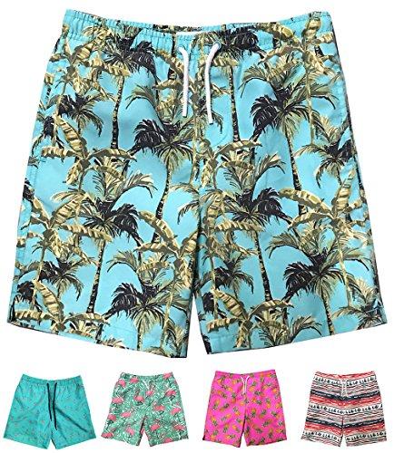 cdd3441a3c INGEAR Little Boys Quick Dry Beach Board Shorts Swim Trunk Swimsuit Beach  Shorts With Mesh Lining (Paml Trees, 8/10)