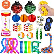 MIBOTE 30 Pack Fidget Toys Set, Sensory Toys Bundle for Kids/Adults Stress Relief and Anti-Anxiety Hand Toys ,