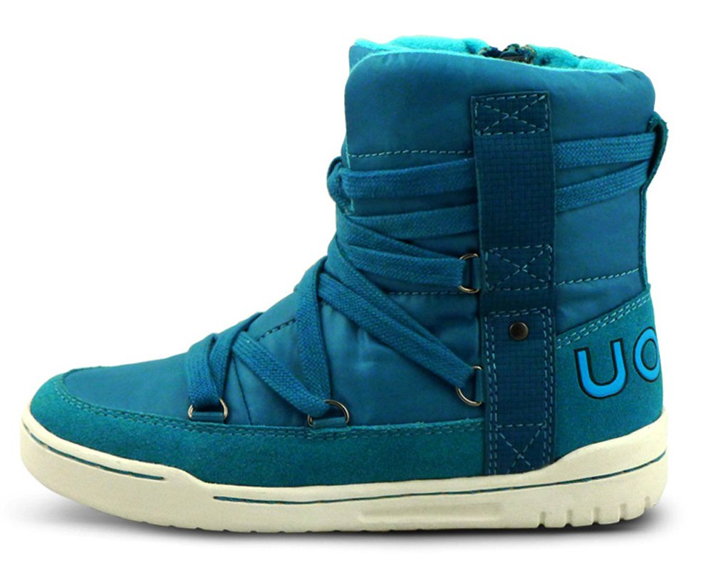 iDuoDuo Kids Casual Short Shaft Boots Side Zipper Waterproof Snow Boots Blue 13 M US Little Kid by iDuoDuo (Image #2)