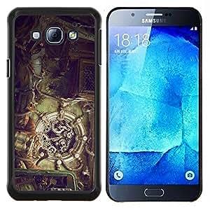 Mecánica Steampunk- Metal de aluminio y de plástico duro Caja del teléfono - Negro - Samsung Galaxy A8 / SM-A800