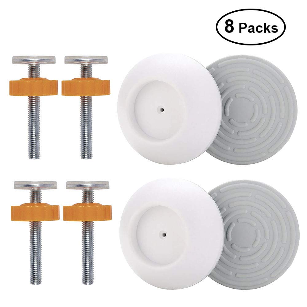 OFUN 4 Pack Baby Gates Wall Cups + 4 Pack M10 Pressure Gates Threaded Spindle Rods, Safety Wall Bumpers Guard Baby Gates Spindle Rods Kit for Pet Child Kid Walk Through Pressure Mounted Gates Guard