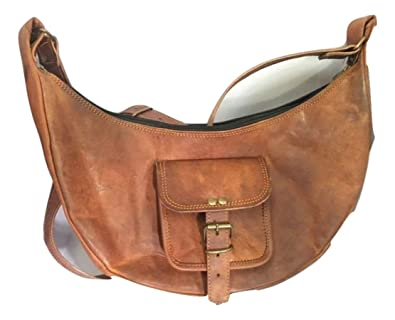 Amazon.com  Genuine Leather Handbag Satchel Purse Shoulder Cross Body  Vintage Hobo Leisure City Shopping Bag Women Brown  Shoes 9bc02b2e0f9cb