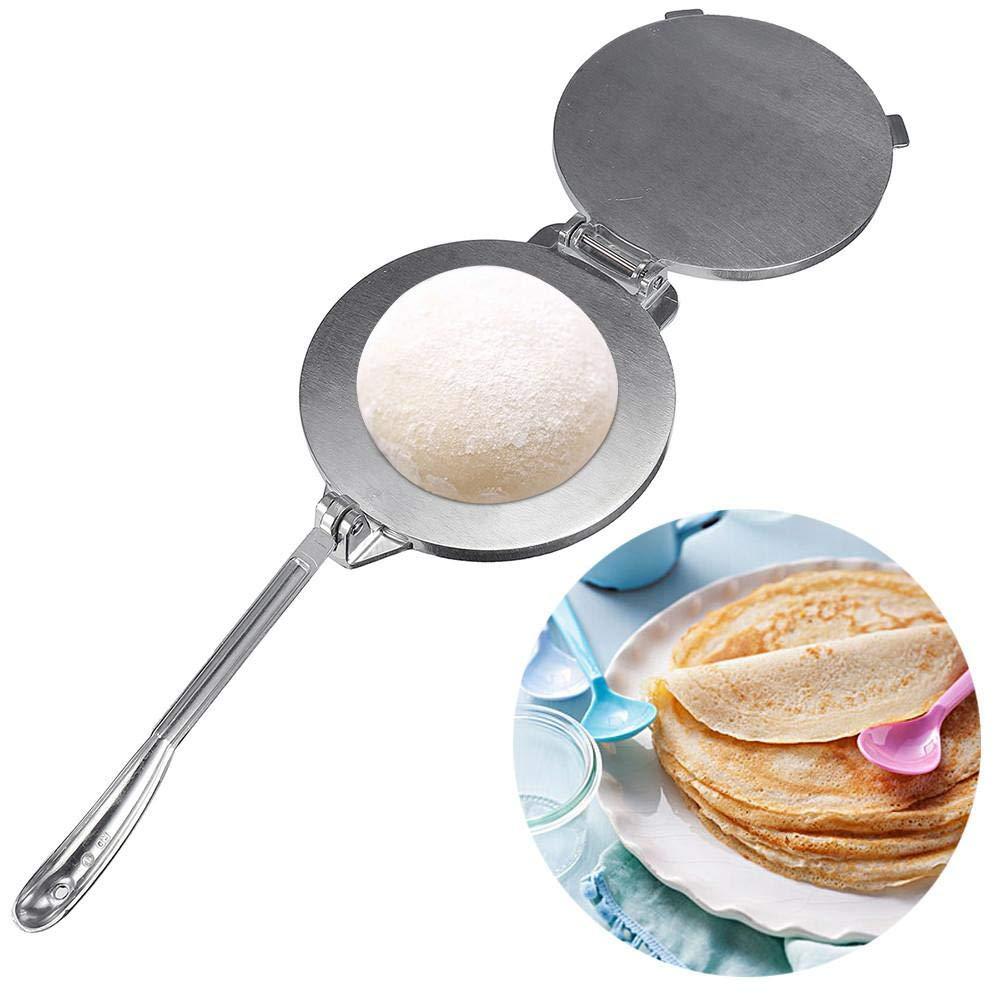 Orange Press Tortilla Press produttore di tortilla manuale durevole rende facilmente deliziose tortillas produttore di presse per pita di pane piatto di mais in farina di alluminio stampato