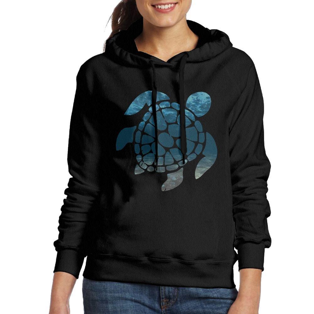 Tie Dye Turtle,sea Fashion Durable Casual Warm Cotton Fall//Winter Women Hooded Sweatshirt