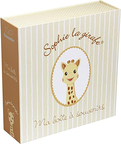 Trouseelle Sophie la jirafa – Caja para recuerdos musicales – Ideal como regalo de nacimiento – Música Let It Be des Beatles – Color marfil: Amazon.es: Bebé