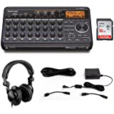 Tascam DP-008EX 8-Track Digital Pocketstudio with Tascam PS-P520E AC Power Adapter, Polsen HPC-A30 Headphones & 16GB Memory C