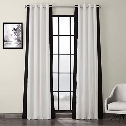 HPD Half Price Drapes PRCT-VC1716-120-GR Grommet Vertical Colorblock Curtain 1 Panel