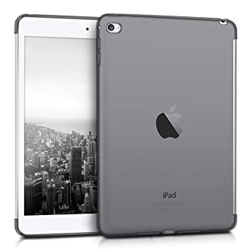 kwmobile Funda inteligente para Apple iPad Mini 4 - Carcasa [trasera] de [TPU] para tablet en [negro transparente]