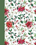 Journal: Holiday Poinsettias 8x10 - GRAPH JOURNAL - Journal with graph paper pages, square grid pattern (8x10 Holiday Graph Journal Series)