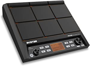 HXW PD705 Percussion Sampling Pad 9-Trigger Multipad All-in-one Electric Drum Set With Built-in Metronome, Effecter, Looper, 600+ Sounds, Supporting USB/MIDI/AUX Connectivity