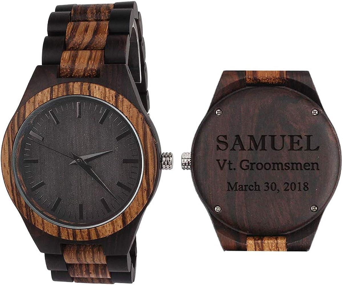 Amazon.es: Grabados En Madera: Relojes