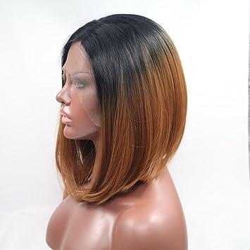 Fa Negro a la Peluca Recta Corta de Bob de Brown, Pelucas Resistentes al Calor