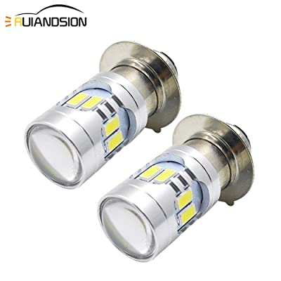 Ruiandsion H6M LED Bulb 6V 12V Universal 5730 12SMD 6000K White 600lm LED Replacement Bulb for Motorcycle Headlight Fog Light (Pack of 2): Automotive