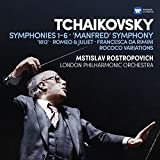 Tchaikovsky: Symphonies 1-6, Manfred Symphony, Francesca da Rimini, Romeo and Juliet fantasy overture, 1812, Rococo variations (6CD)