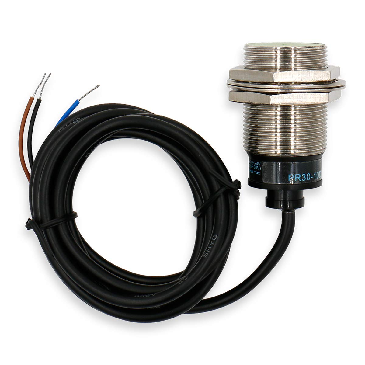 NPN normalerweise offen M30 rund NO Heschen Induktiver N/äherungssensor PR30-10DN zylindrisch 10 mm Sensor CE geschirmt 12-24 VDC 3-Draht