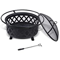 Outdoor Fire Pit BBQ Pits Grill Portable Fireplace Garden Patio Camping Heater
