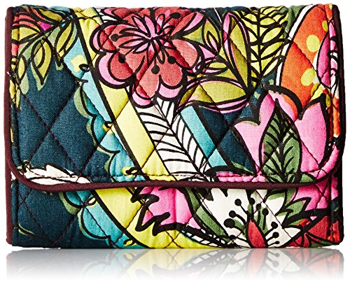 Vera Bradley Women's RFID Riley Compact Wallet, Autumn Leaves, One Size