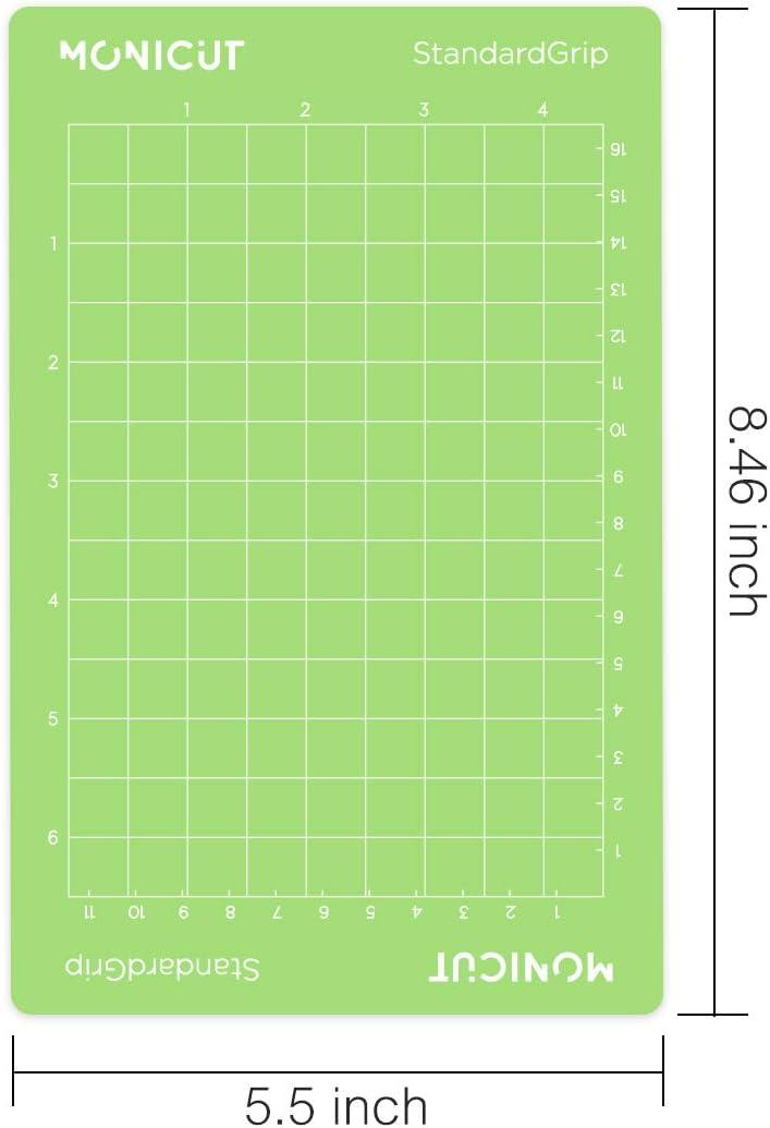 Monicut 3 Mats Standardgrip Cutting Mat for Cricut Joy-Mat with Standardgrip Adhesive for Cricut Joy Replacement Mat 4.5x6.5 Inch