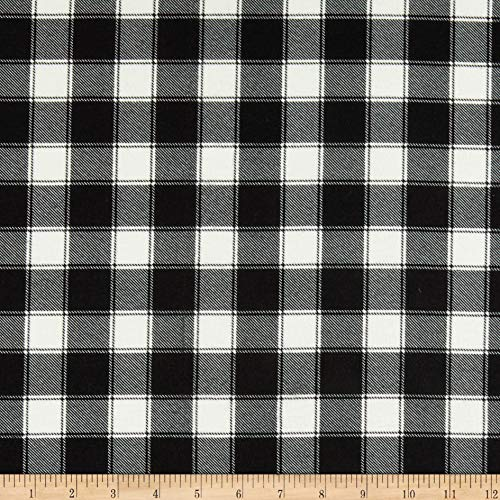 Timeless Treasures Flannel Buffalo Check Natural Fabric by The Yard
