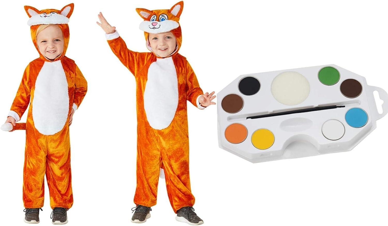 Fancy Dress World Disfraz de gato para niños pequeños, color ...