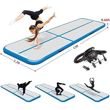 Amazon.com: Techip - Colchoneta hinchable para gimnasia con ...