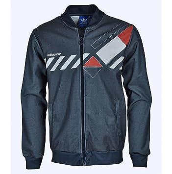 Adidas Originals Dominant Trainingsjacke Jacke Tennis Ivan Lendl L  dunkelblau / rot