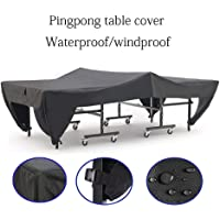 tackjoke Outdoor Heavy-Duty Table Tennis Table Cover Polyester Dustproof Waterproof Cover Ping Pong Table Cover Ingenious