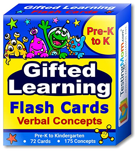 (Gifted Learning Flash Cards – Verbal Concepts and Vocabulary for Pre-K – Kindergarten – Learning Toys for CogAT Test, OLSAT, Iowa Test, NYC Gifted and Talented, ERB, WISC, WPPSI)