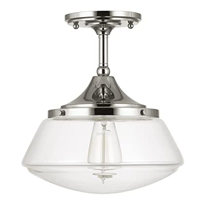 Capital lighting 3533pn 134 one light semi flush fixture