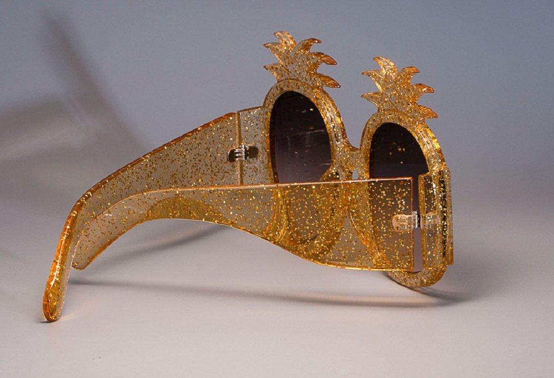 YABINA Oversized Round Sunglasses Women Pineapple Frame Fashion Modern Shades (A) by YABINA (Image #4)