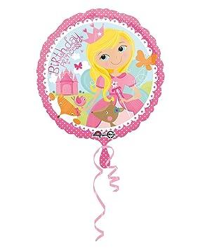 Horror-Shop Foil Globo Cumpleaños Princesa 43cm: Amazon.es ...