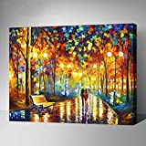 MADE4U Paint By Numbers Kit Canvas Mounted on Wood Frame with Brushes and Paints for Adults Children Seniors Junior DIY Beginner Level Acrylics Painting Kits on Canvas (Fairyland) (The Road With You, G444)