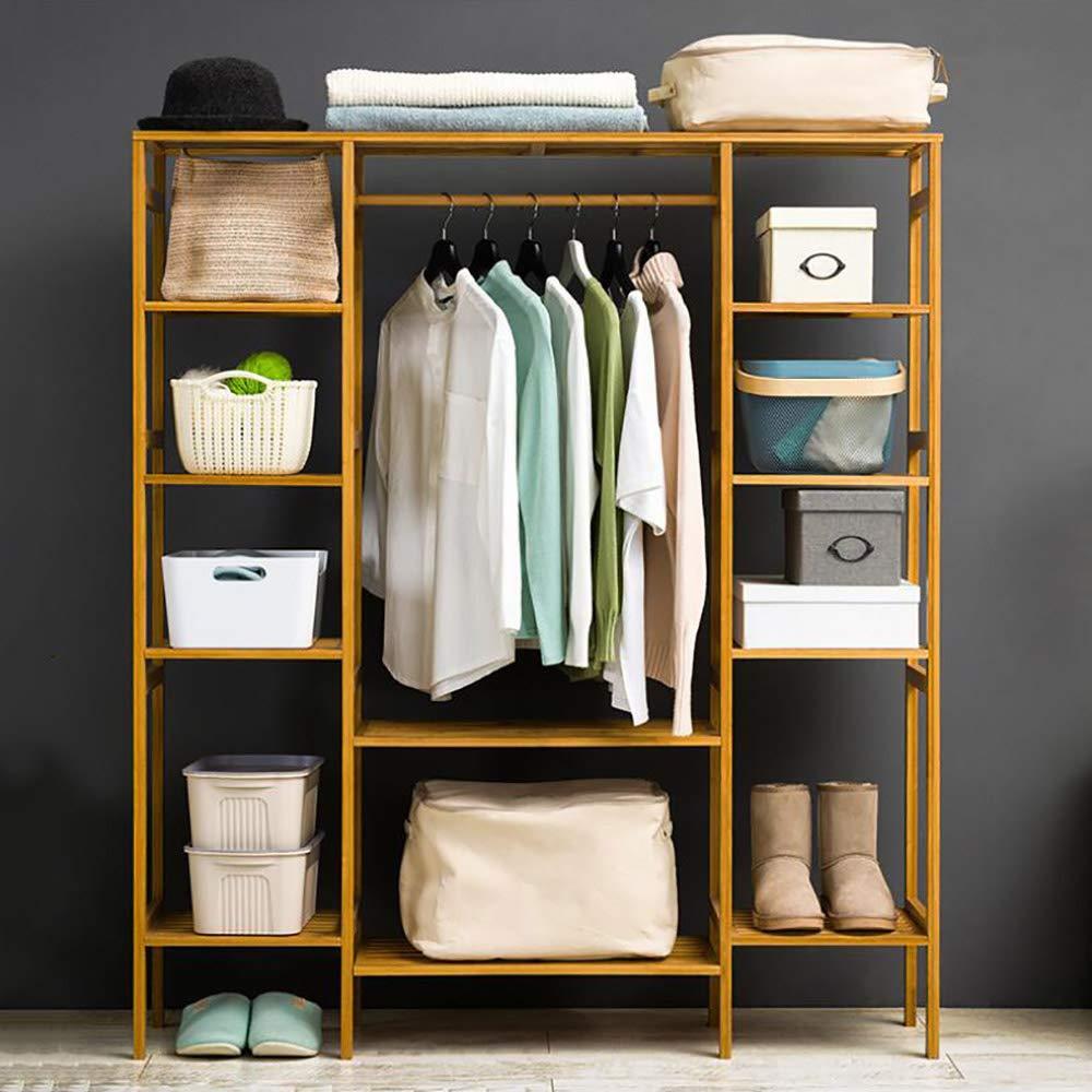 Amazon.com: Coat RACK armario simple de bambú para el suelo ...